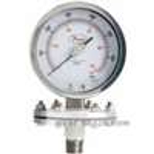 Dwyer Instruments SGO-F0524N, Stainless steel Schaeffer gage, 0-100 psi (0-700 kPa)