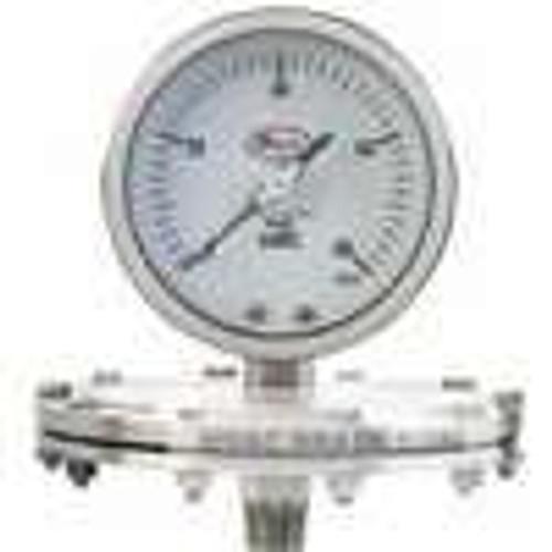 "Dwyer Instruments SGP-F7824N, Stainless steel low pressure Schaeffer gage, range -160-0"" wc (-4000-0 mm)"