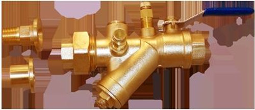"""HCi Terminator A SS Integrated Automatic Balancing Valve with Union, TASS-D-L, 1-1/4"""", 50-200 GPM Range"""