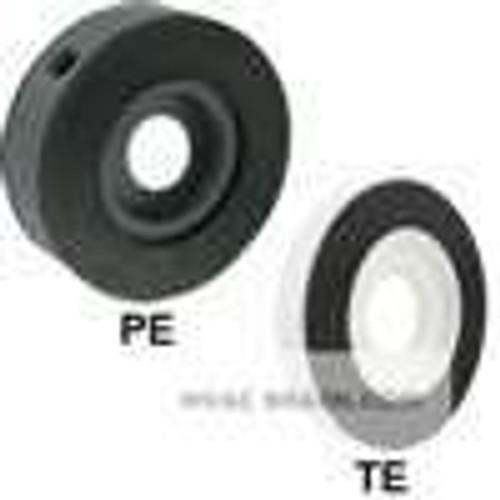 "Dwyer Instruments TE-A-3, PTFE orifice plate flowmeter, 1/2"" line size, 0430"" bore, 069 Beta, water capacity: 320"" dp W/C, 1300 GPM flow; air capacity: 3277 SCFM @ 147 psia, 5615 SCFM @ 20 psig, 10747 SCFM @ 100 psig; 1 lb"
