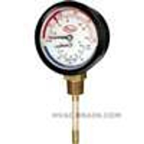 "Dwyer Instruments TRI-60-25E, Tridicator gage, range 0-60 psi (0-400 kPa), 1/4"" NPT CBM (ext shank)"
