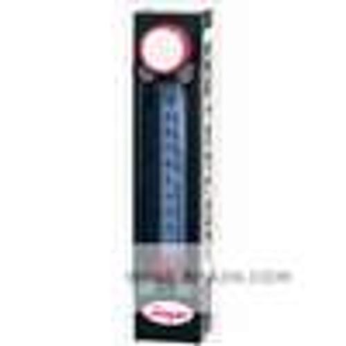 "Dwyer Instruments TVA1113, All fluoropolymer flowmeter, 75 mm scale, 1/4"" female NPT, flow rate 634 GPH (400 ml/min) water"