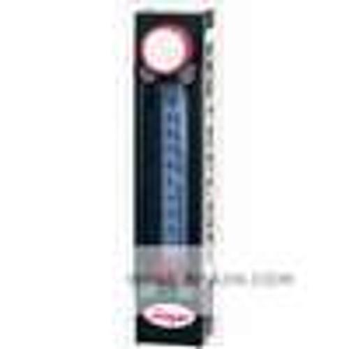 "Dwyer Instruments TVA1317, All fluoropolymer flowmeter, 75 mm scale, 3/8"" female NPT, flow rate 396 GPH (2500 ml/min) water"