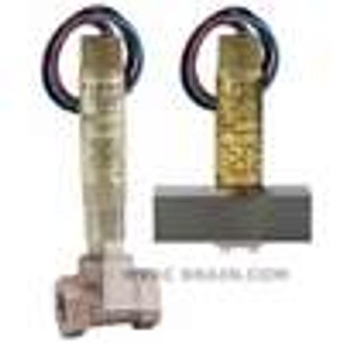 """Dwyer Instruments V6EPB-B-S-4-MI, Mini-size flow switch, brass upper and lower body, 1-1/4"""" NPT, iron tee"""