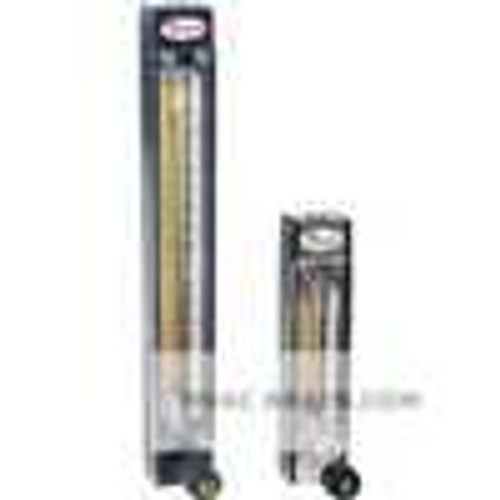 Dwyer Instruments VA10412, Variable area glass flowmeter, SS float, max flow rate 534 SCFH (2520 ml/min) air, 1125 GPH (71 ml/min) water
