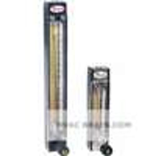 Dwyer Instruments VA15421, Variable area glass flowmeter, glass float, flow rate 49 SCFH (23169 ml/min) air, 827 GPH (522 ml/min) water