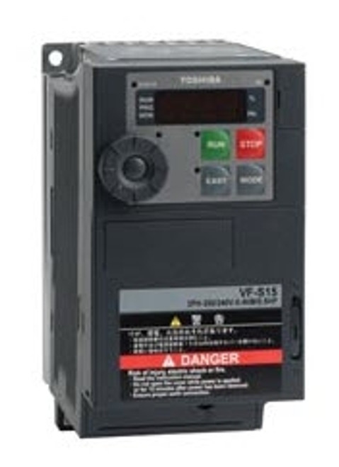 Toshiba VFS15S-2004PL-W, VFD S15 Drive, 230V Single Phase Input, 05HP, 33AMPS