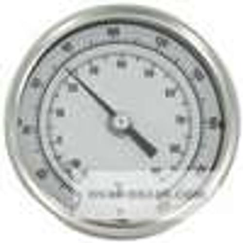 "Dwyer Instruments BTLRN312101, Long reach bimetal thermometer, 12"" stem, range 0-200"