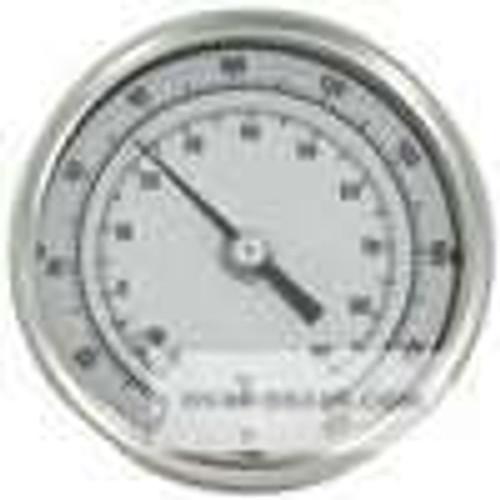 "Dwyer Instruments BTLRN372101, Long reach bimetal thermometer, 72"" stem, range 0-200"