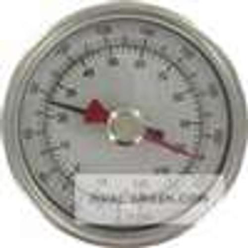 "Dwyer Instruments BTM32510D, Maximum/minimum bimetal thermometer, range 0 to 200 , 2-1/2"" stem"