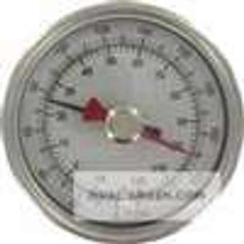 "Dwyer Instruments BTM3258D, Maximum/minimum bimetal thermometer, range 150 to 750 , 2-1/2"" stem"