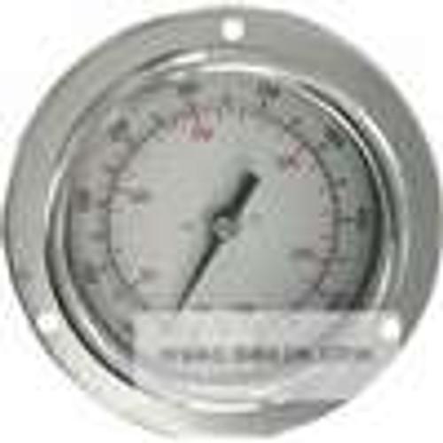 "Dwyer Instruments BTPM26041, Panel mount bimetal stem thermometer, range -40 to 160 , 6"" stem"
