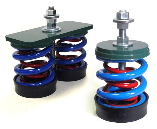 Vibro Acoustics FS-SA-500, 1 (25mm) Deflection FS, Free Spring Floor Mounted Isolators, 500 lbs rated load