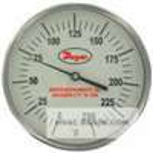 "Dwyer Instruments GBTB525121, Glow-in-the-dark bimetal thermometer, range 50 to 400, 2-1/2"" stem"