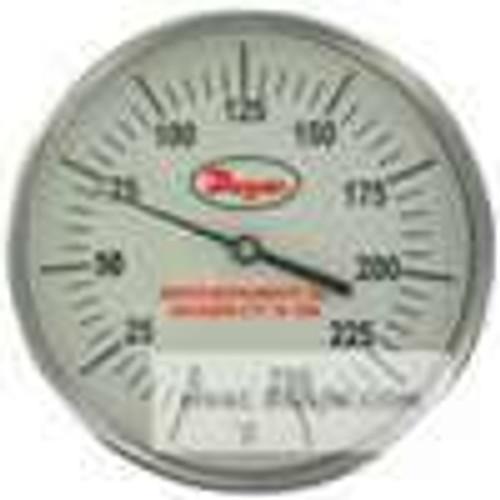 "Dwyer Instruments GBTB525151, Glow-in-the-dark bimetal thermometer, range 0 to 300, 2-1/2"" stem"