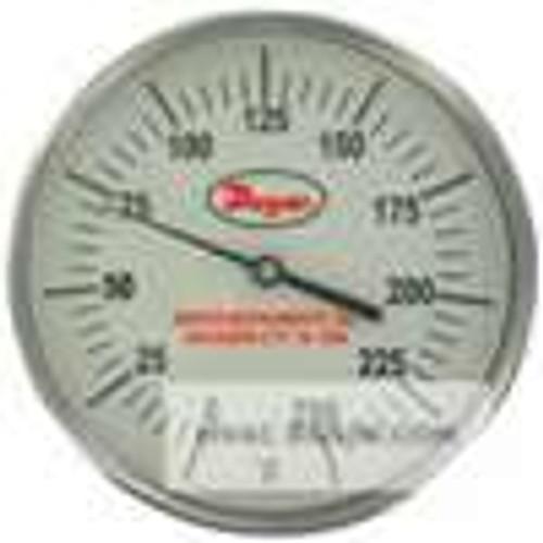 "Dwyer Instruments GBTB525161, Glow-in-the-dark bimetal thermometer, range 0 to 500, 2-1/2"" stem"