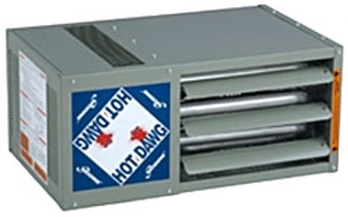 Modine HD 100, Hot Dawg Power Vented - CFM 1,490 - BTU 100,000 - Stainless Steel - Propeller Unit