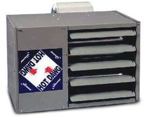 Modine HDS 125, Hot Dawg Separated Combustion - CFM 1,980 - BTU 125,000 - Aluminized - Propeller Unit