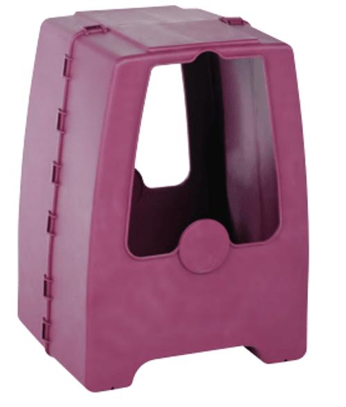 Plastec WH3, Polypropylene Weather Hood, Enclosed Pedestal, Grape Color
