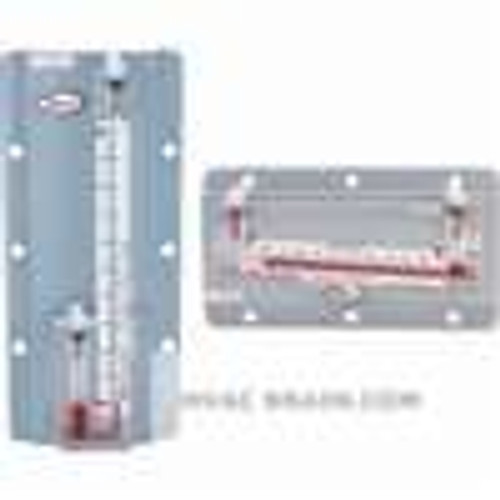 """Dwyer Instruments 201, Solid plastic stationary gage, range 05-0-50"""" wc, 01 minor div, 5-1/2"""" scale, 2 lb 12 oz"""