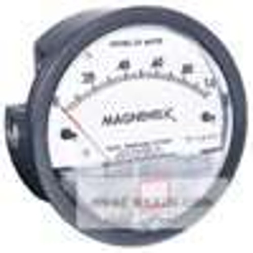"""Dwyer Instruments 2010, Differential pressure gage, range 0-10"""" wc, minor divisions 20"""