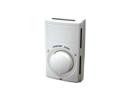 Qmark M602W, DPST Snap Action Line Voltage Thermostat rated 22 amps, 120-240V, 18 amps, 277V