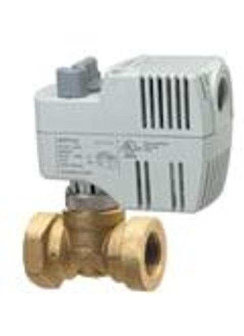 "Siemens 242-00214, Zone valve, 2-way, 1/2"", 40 CV, NPT w/ 24V 2-position SR actuator fails NC"