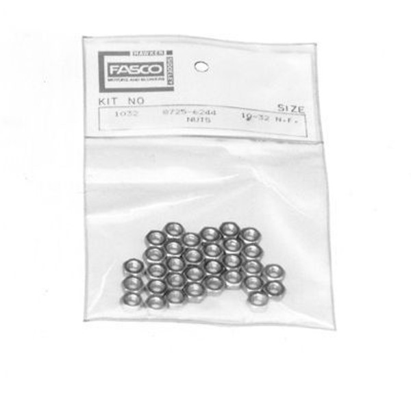 Fasco KIT1032, Accessory 10-32 Nuts, 32 Pieces