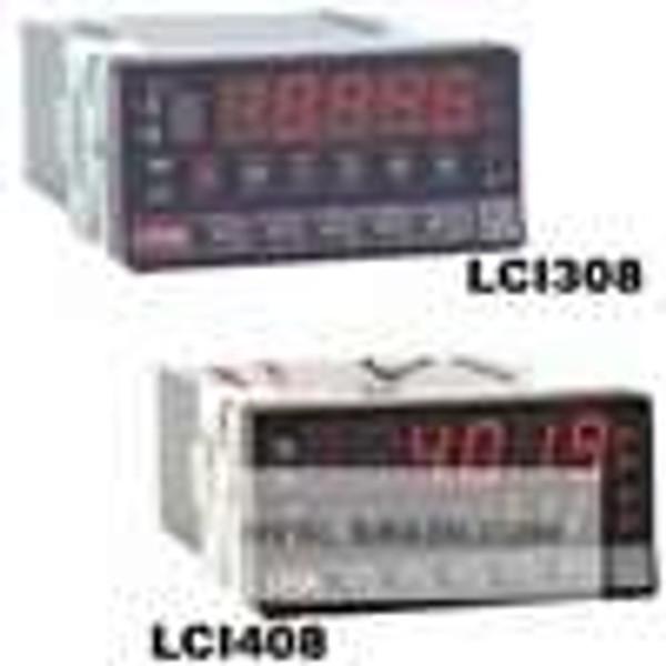 Dwyer Instruments LCI408-00, Panel meter indicator, 1/8 DIN, universal input