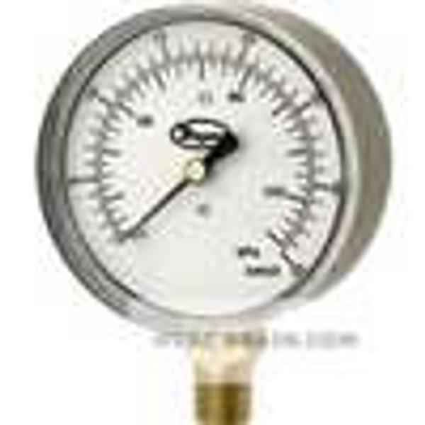 """Dwyer Instruments LPG4-D7322N, Low pressure gage, range -25-0"""" wc (-6-0 kPa)"""