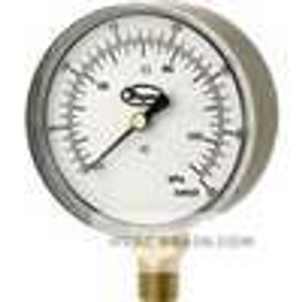 """Dwyer Instruments LPG4-D7822N, Low pressure gage, range -160-0"""" wc (-40-0 kPa)"""