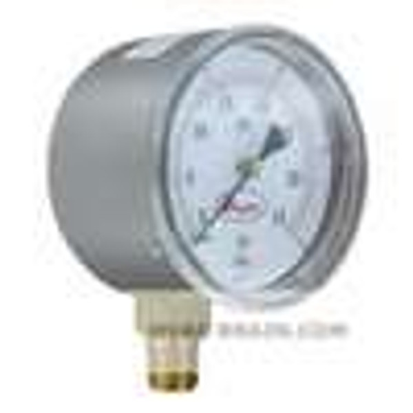 "Dwyer Instruments LPG5-D8122N, 25"" low pressure gage, dual range 0-15"" wc(0-375 kPa), bottom connection"