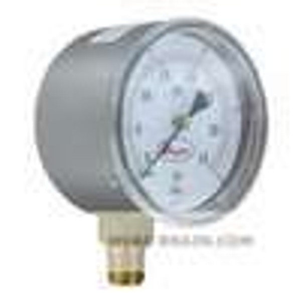 "Dwyer Instruments LPG5-D8822N, 25"" low pressure gage, dual range 0-200"" wc(0-50 kPa), bottom connection"
