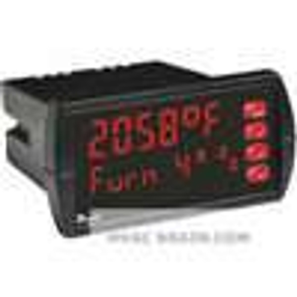 Dwyer Instruments LTI-201, Temperature panel meter, 12-24 VDC, no relays, 4-20 mA transmitter
