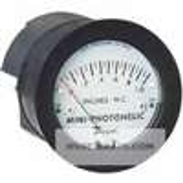 "Dwyer Instruments MP-003, Differential pressure switch/gage, range 0-30"" water"