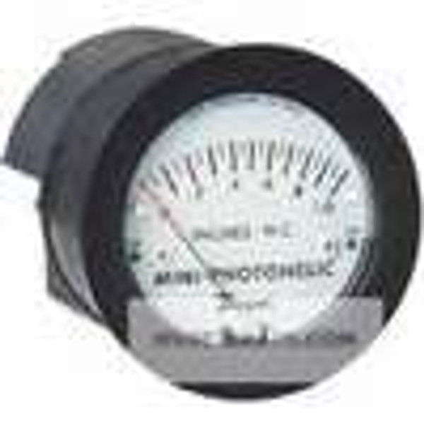 "Dwyer Instruments MP-010, Differential pressure switch/gage, range 0-10"" water"