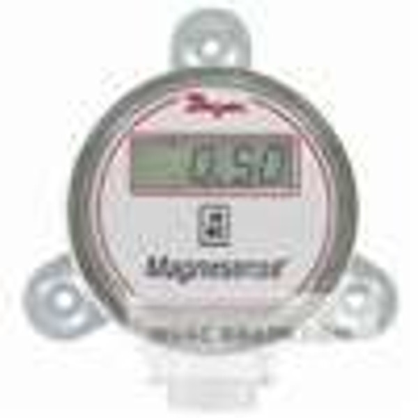 "Dwyer Instruments MS-021-LCD, Differential pressure transmitter, 4-20 mA output, selectable range ±01"", 025"", 05"" wc (±25, 50, 100 Pa), panel mount, with LCD"
