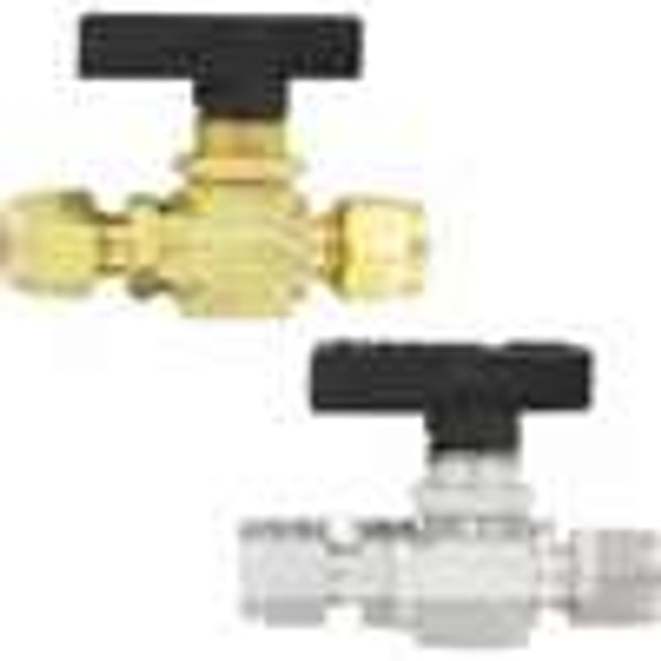 """Dwyer Instruments MSV-BD220, 2-way ball valve, 1/4"""" fractional tube connection, 318 mm orifice"""
