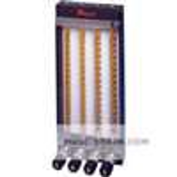 Dwyer Instruments MTF-1631, 65 mm frame, isolated pattern, 3 tube capacity, aluminum wetted parts