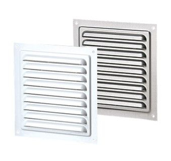Vents US MVM 200 S, 8x8 Metal Vent Grille with Polymeric Coating