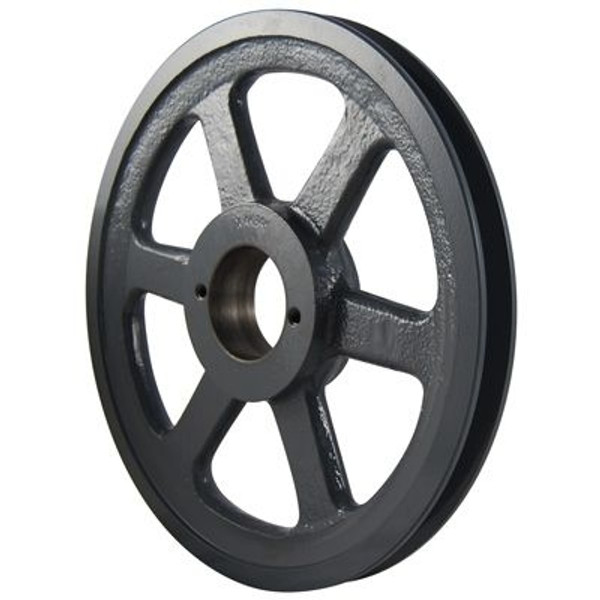 """Packard PBK36H, Single Groove Bushing Pulleys For 4L Or A Belts And 5L Or B Belts 375""""OD"""