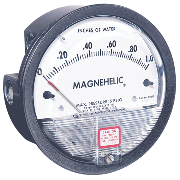 Dwyer Instruments 2000-0-ASF MAGNEHELIC GAGE