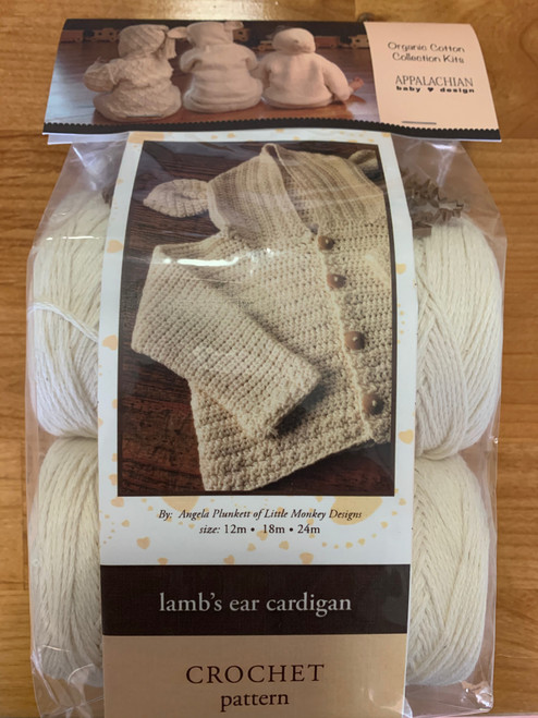 Appalachian Baby Cardigan Crochet Kit Lamb