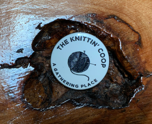 Signature enamel Knittin' Coop pins now available. Proudly made in the USA.