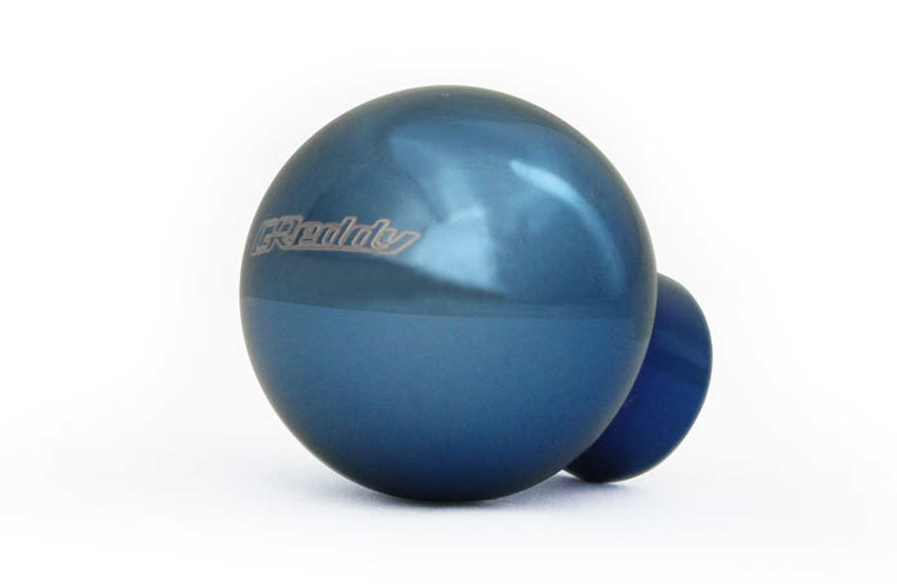 GReddy SUS Shift Knob Blue Anodized over Polished