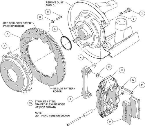 Wilwood 4r Big Brake Kit Rear For 2010 Genesis Coupe 140 13045