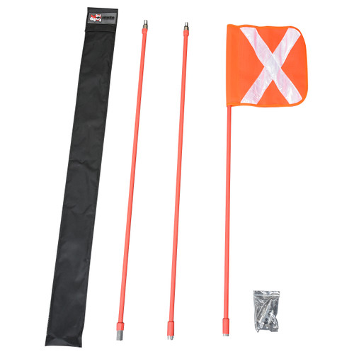 Safety Flag - 3m - 3 Piece Pole