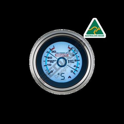 Redarc EGT & Boost Pressure 52mm Gauge With Optional Current Display