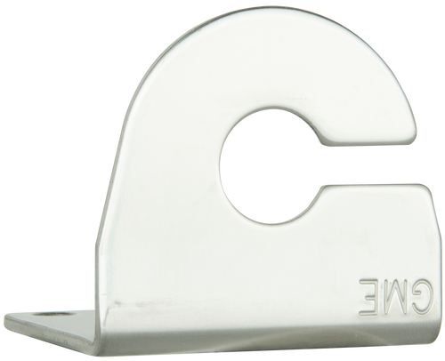 "GME 2.5mm ""L"" Bracket with cable slot - Stainless Steel"