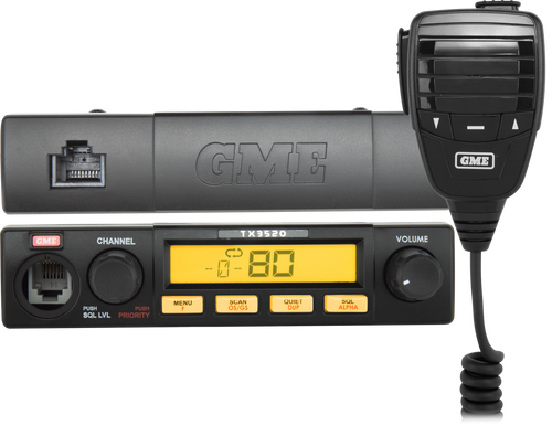 GME 5 Watt Compact Remote Head UHF CB Radio with ScanSuite™